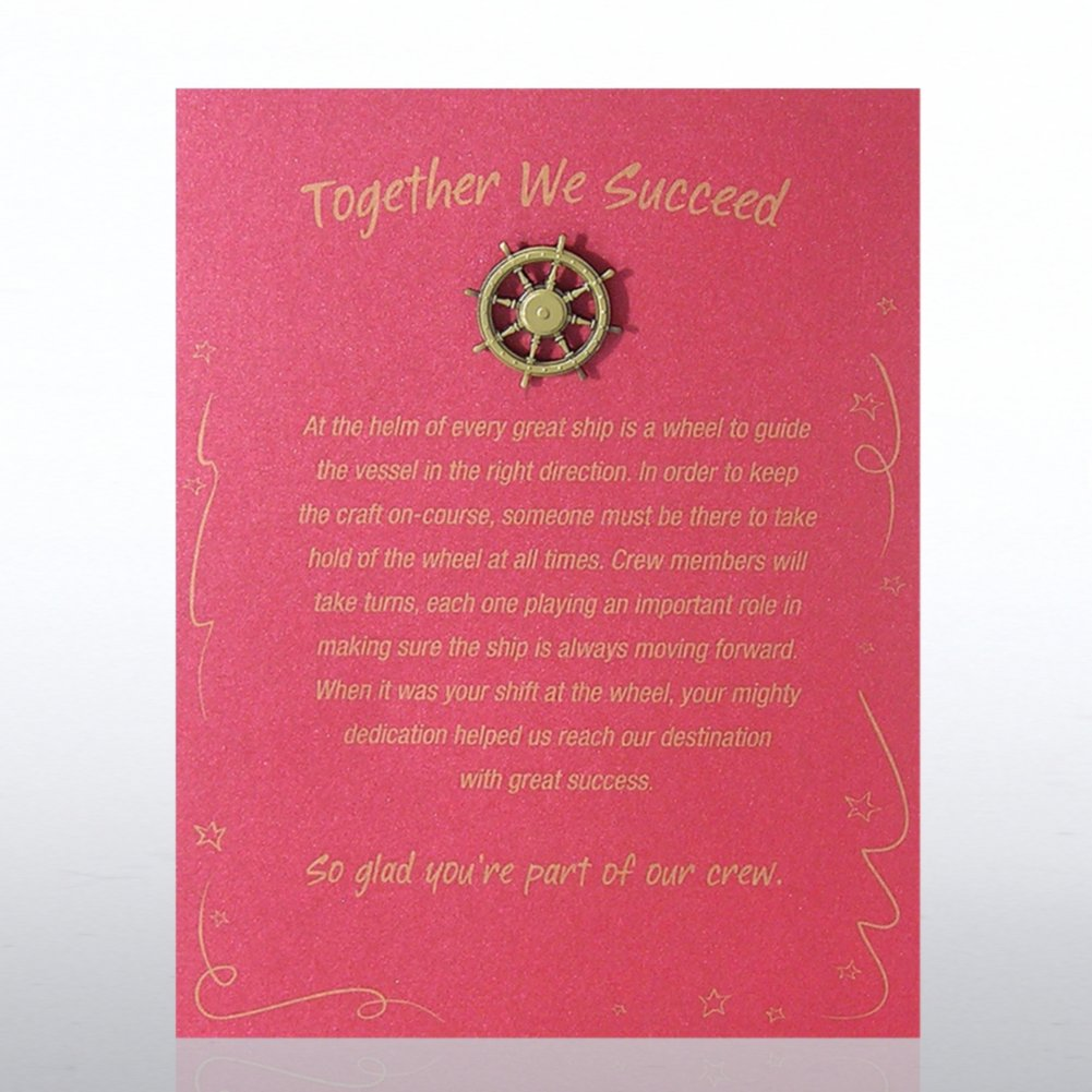 View larger image of Character Pin - Ship's Wheel: Together We Succeed