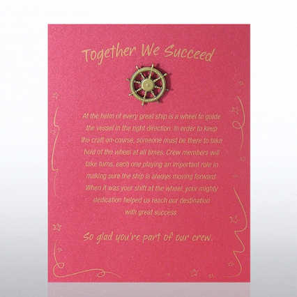 Character Pin - Ship's Wheel: Together We Succeed