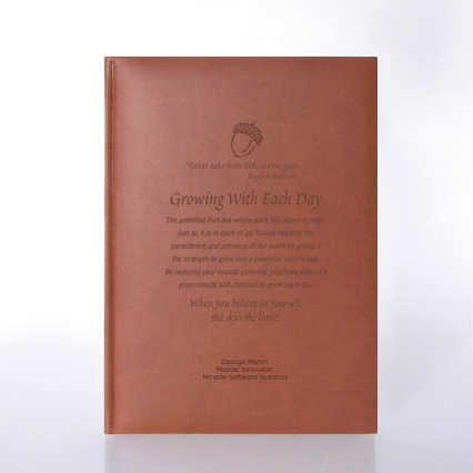 Italian Leatherette Journal - Suede-Touch Terracotta