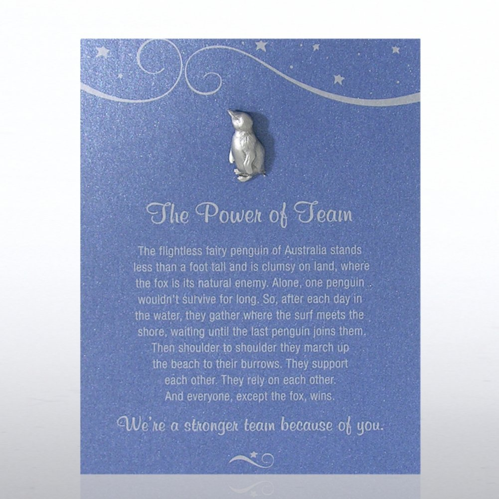 View larger image of Character Pin - Penguin: The Power of Team - Blue Card