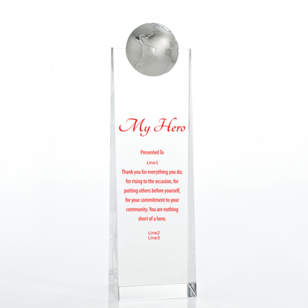 Crystalline Tower Trophy - Globe