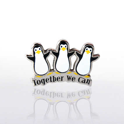 Lapel Pin - Penguins Together We Can