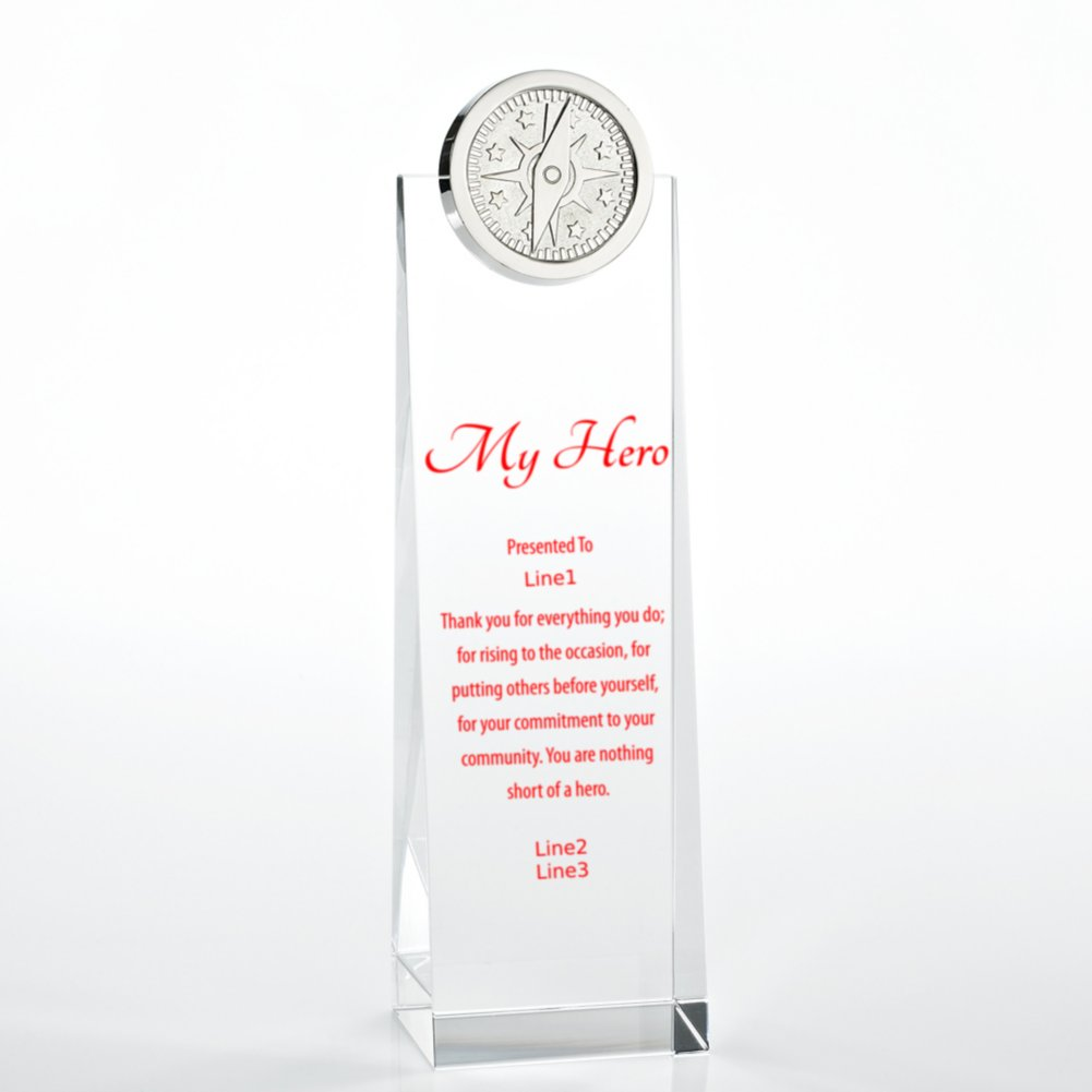 View larger image of Crystalline Tower Trophy - Compass
