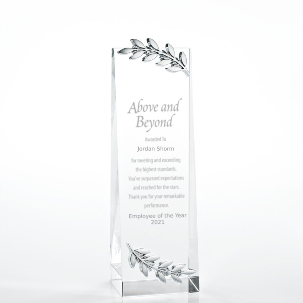 View larger image of Crystalline Tower Trophy - Laurels