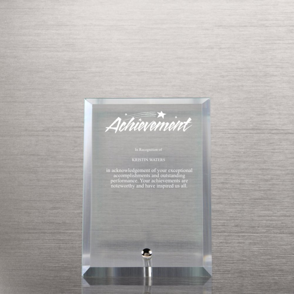 View larger image of Mini Glass Award Plaque - Clear