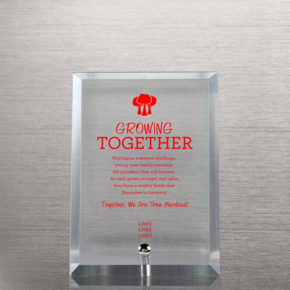 Glass Award Character Plaque - Black
