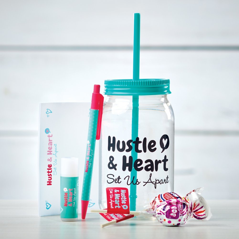 View larger image of Value Mason Jar Gift Set - Hustle & Heart Set Us Apart