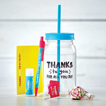 Value Mason Jar Gift Set - Thanks to You for All You Do!