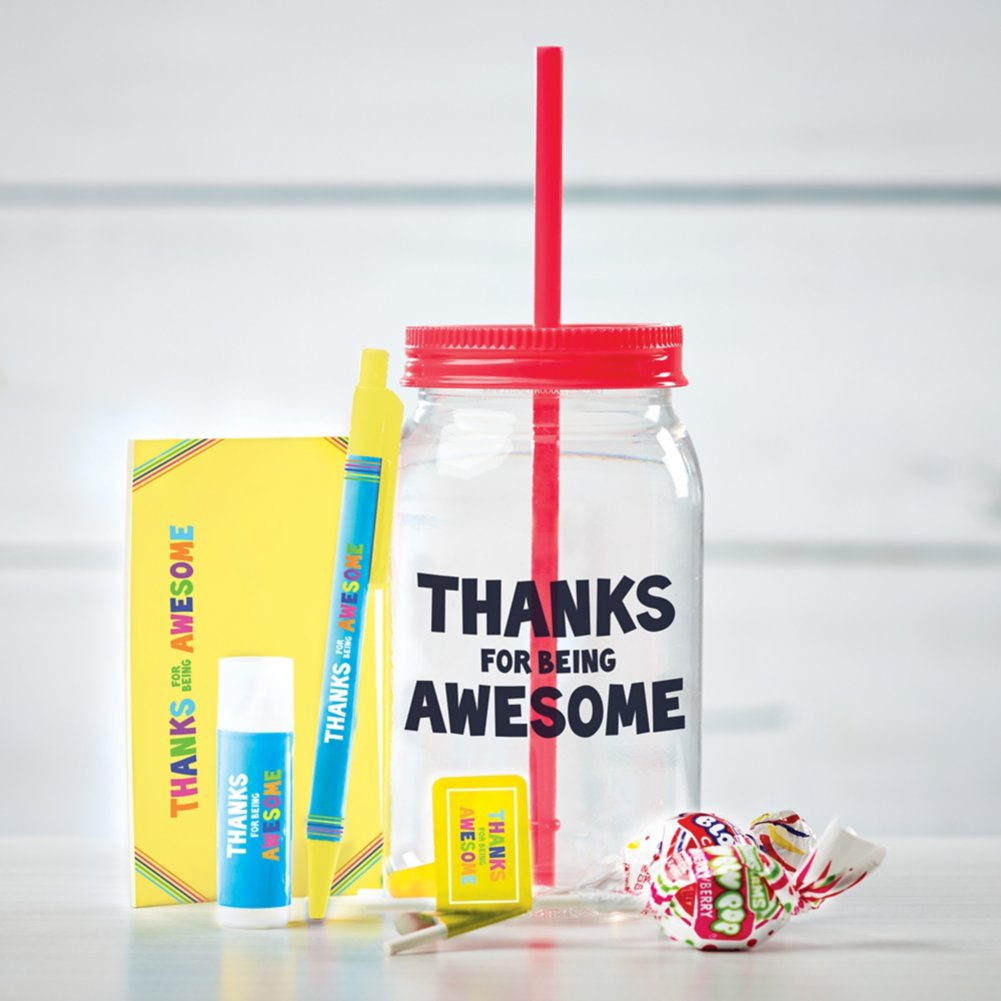 View larger image of Value Mason Jar Gift Set - Thanks For Being Awesome