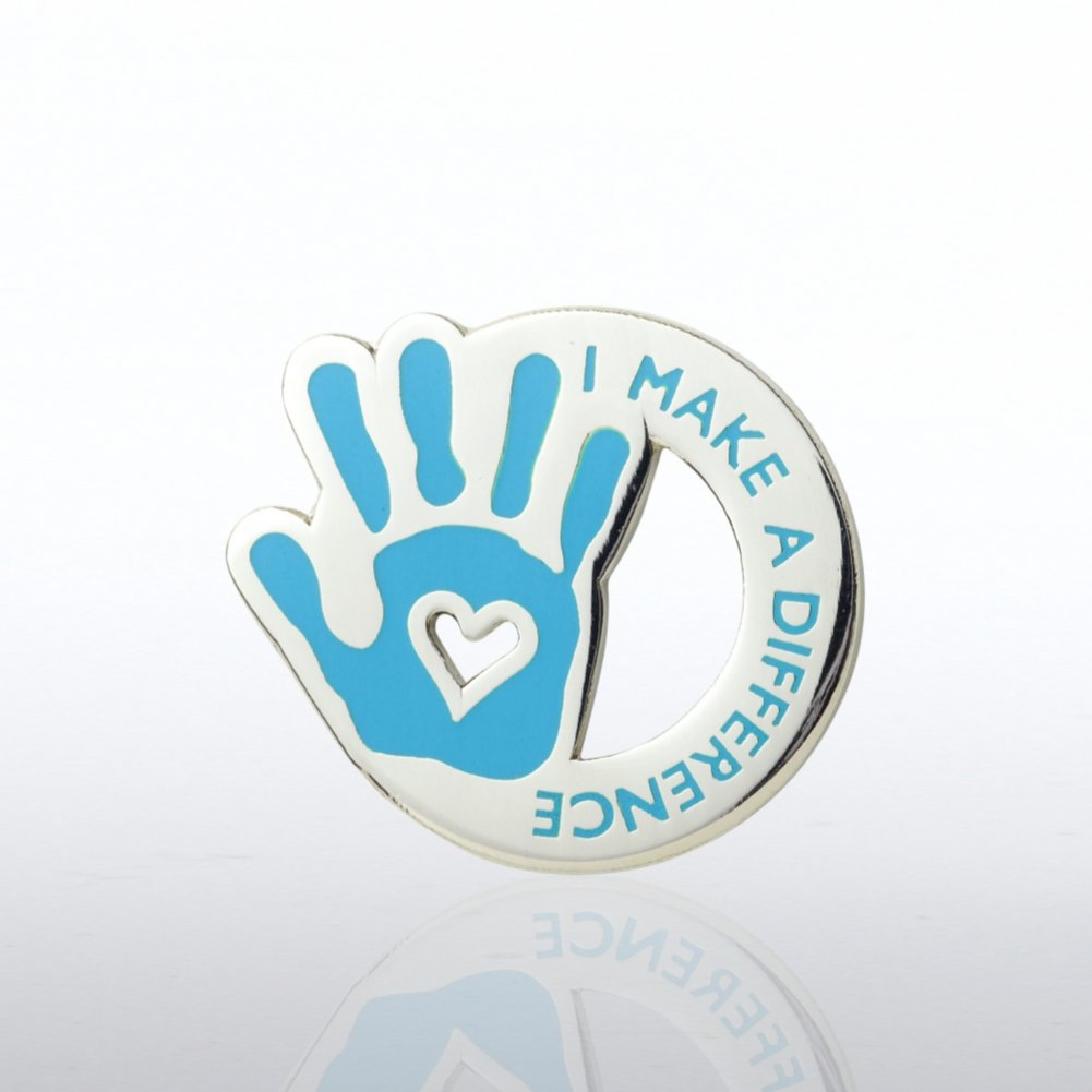View larger image of Lapel Pin - I Make the Difference - Heart in Hand