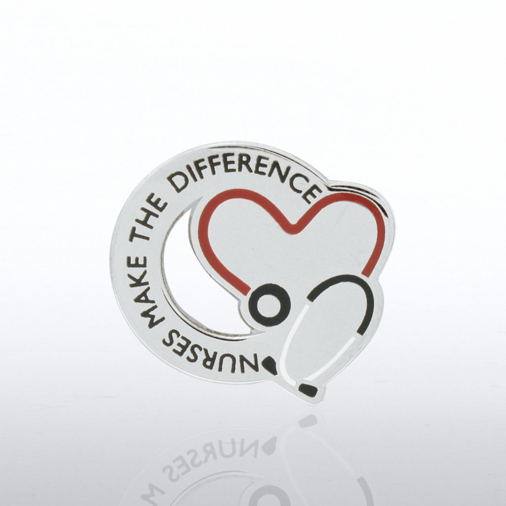 View larger image of Lapel Pin - Nurses Make the Difference - Stethoscope