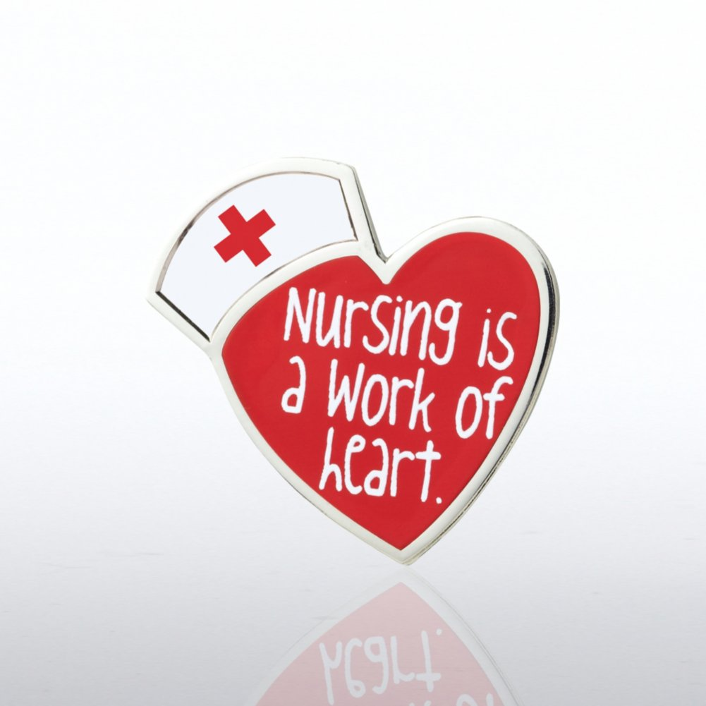View larger image of Lapel Pin - Nursing is a Work of Heart