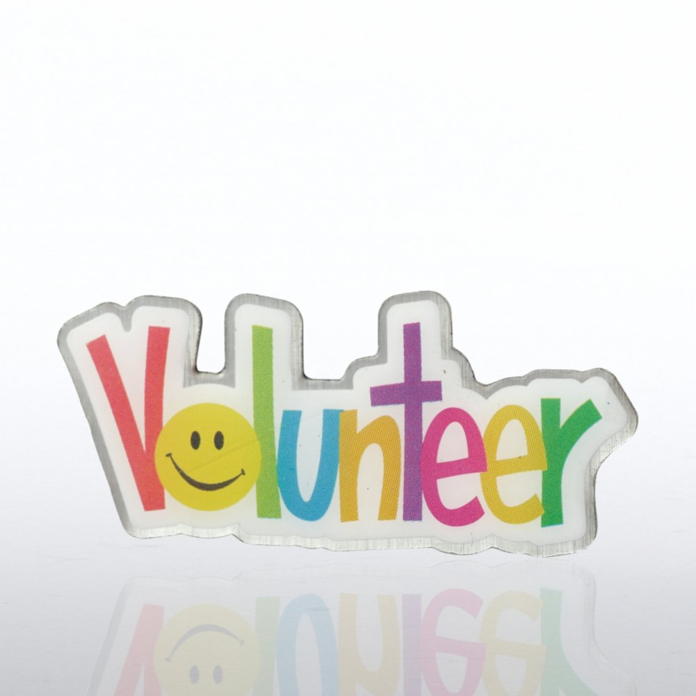 View larger image of Lapel Pin - Volunteer Smiley Face