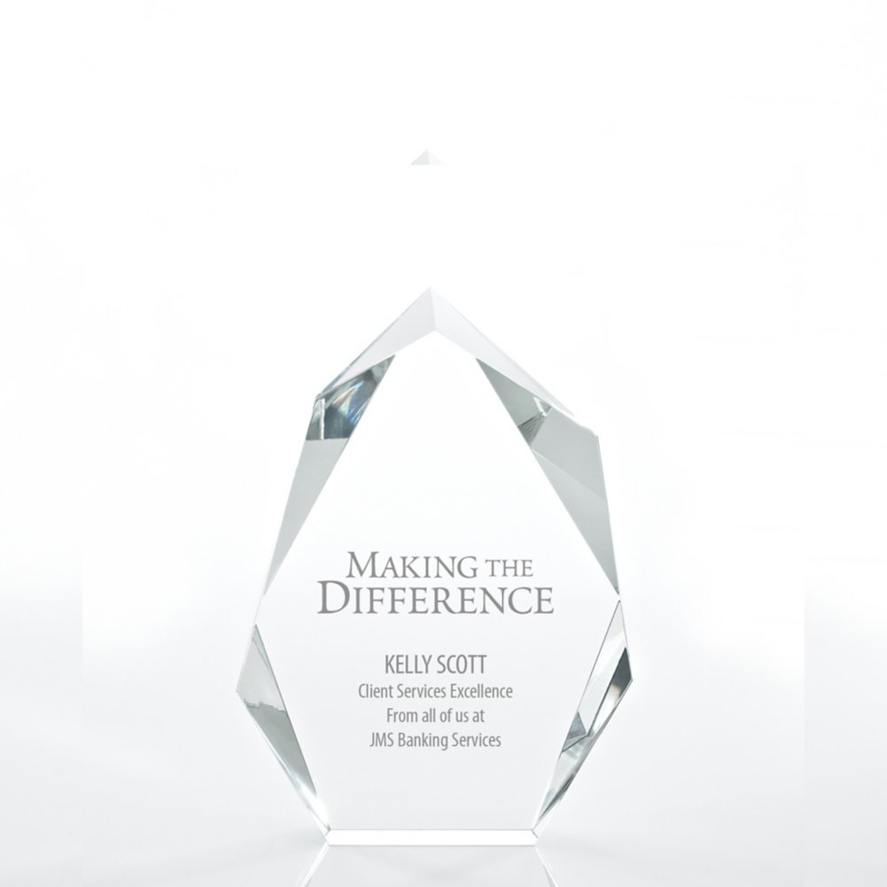View larger image of Executive Beveled Crystal Trophy - Peak - Small