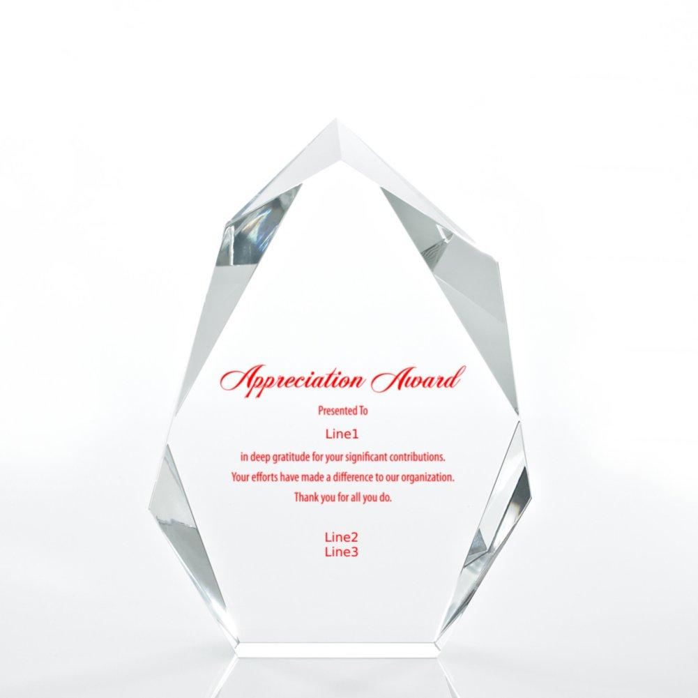 Executive Beveled Crystal Trophy - Peak