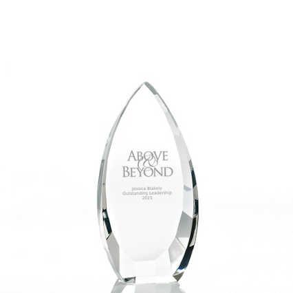 Executive Beveled Crystal Trophy - Tear Drop