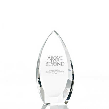 Executive Beveled Crystal Trophy - Tear Drop