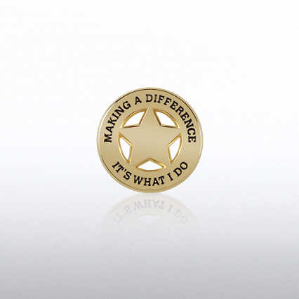 Lapel Pin - Star: Making a Difference: It's What I Do