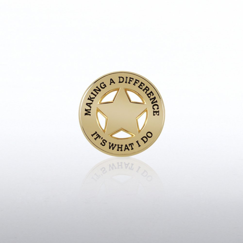 View larger image of Lapel Pin - Star: Making a Difference: It's What I Do