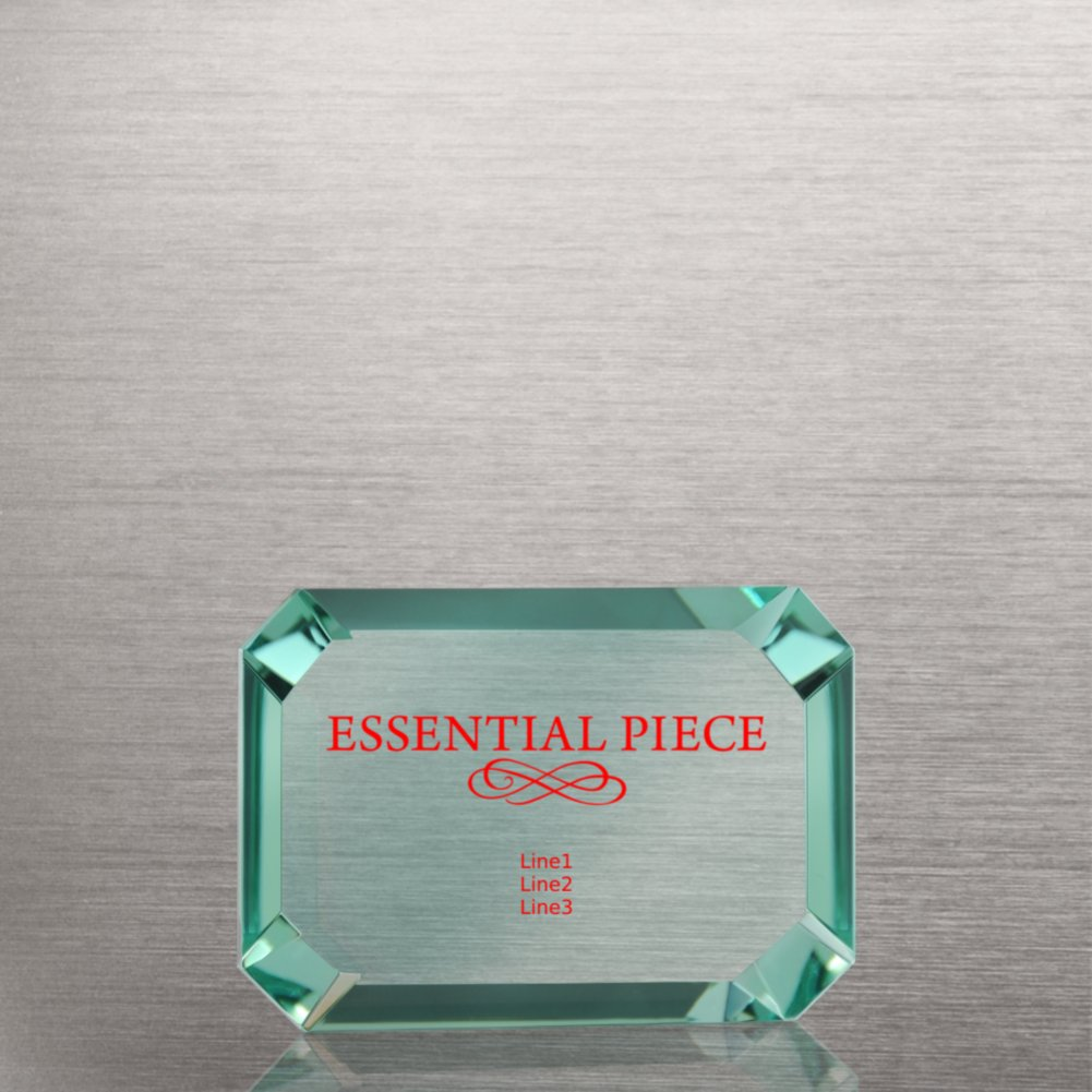Elegant Glass Paperweight