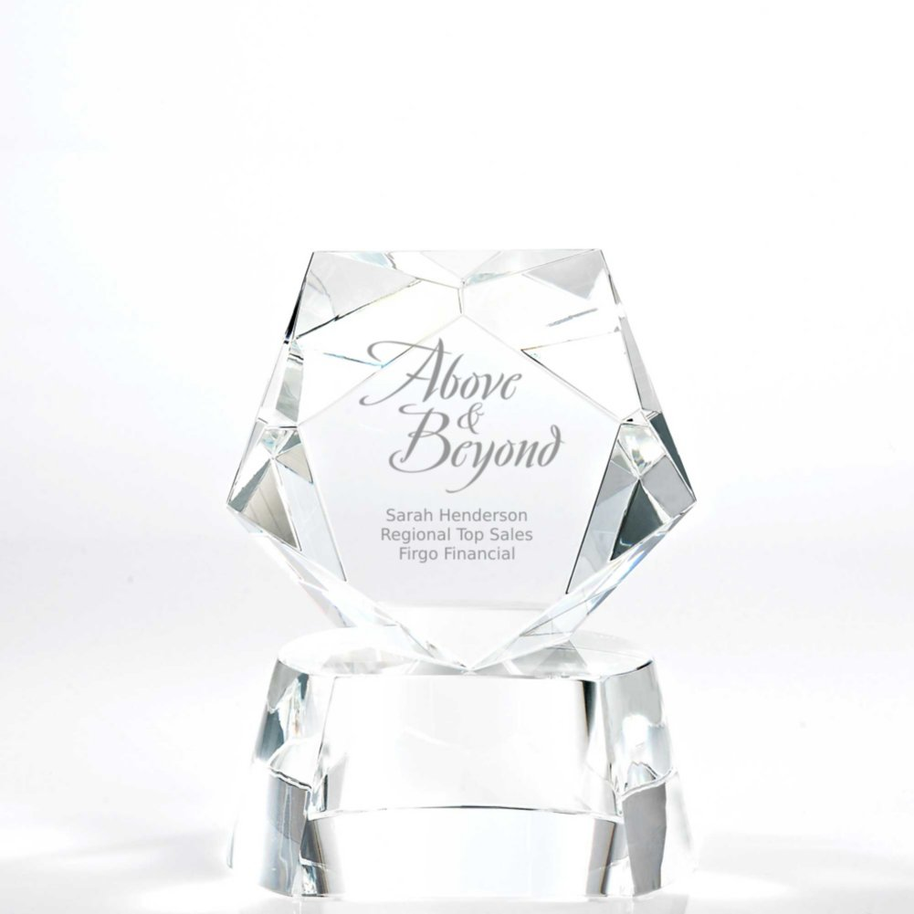 View larger image of Crystal Pentagon Trophy