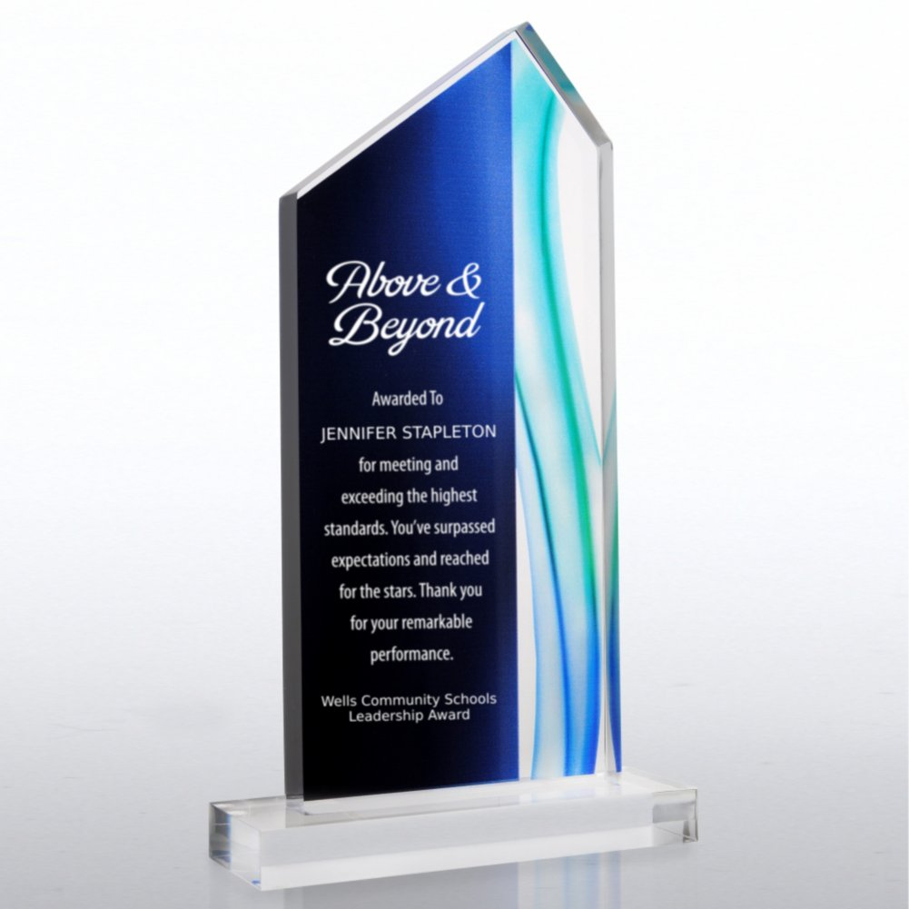 View larger image of Acrylic Art Deco Trophy in Blue Wave