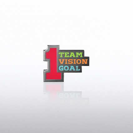 Lapel Pin - Number 1 Team Vision Goal