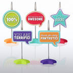 View larger image of PVC Memo Clip Pack - Positive Sayings