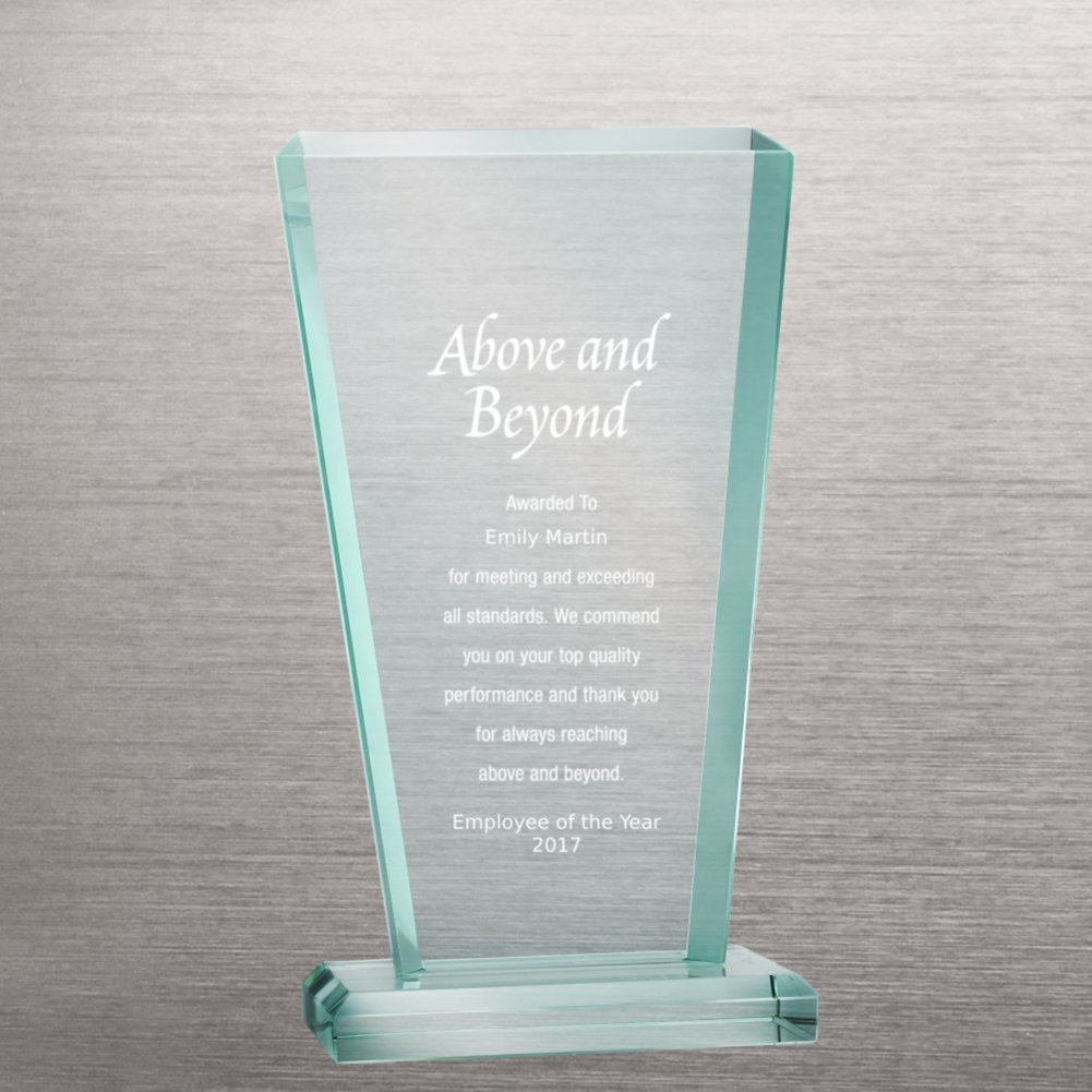 View larger image of Premium Jade Glass Trophy - Tower