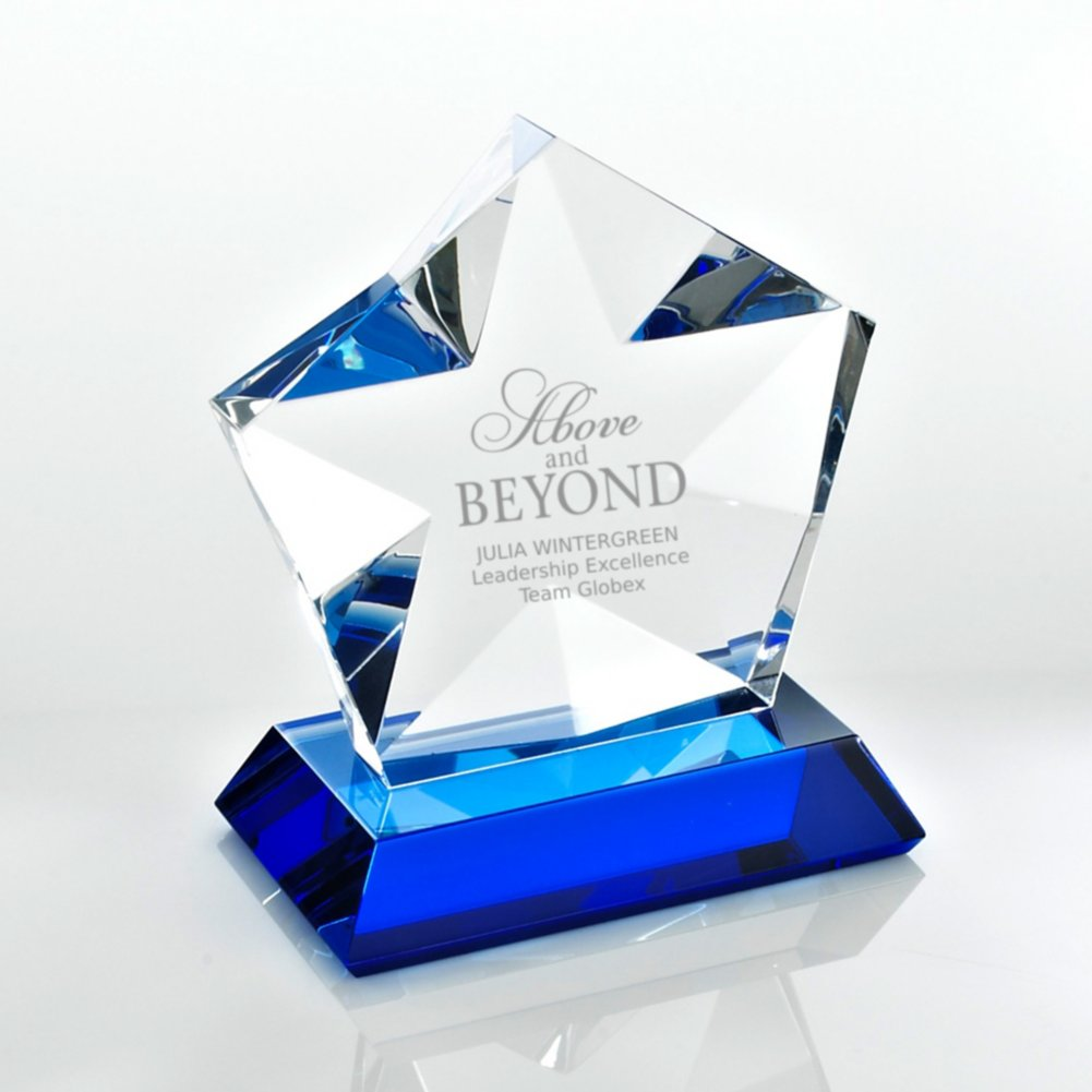 View larger image of Blue Luminary Crystal Award - Star