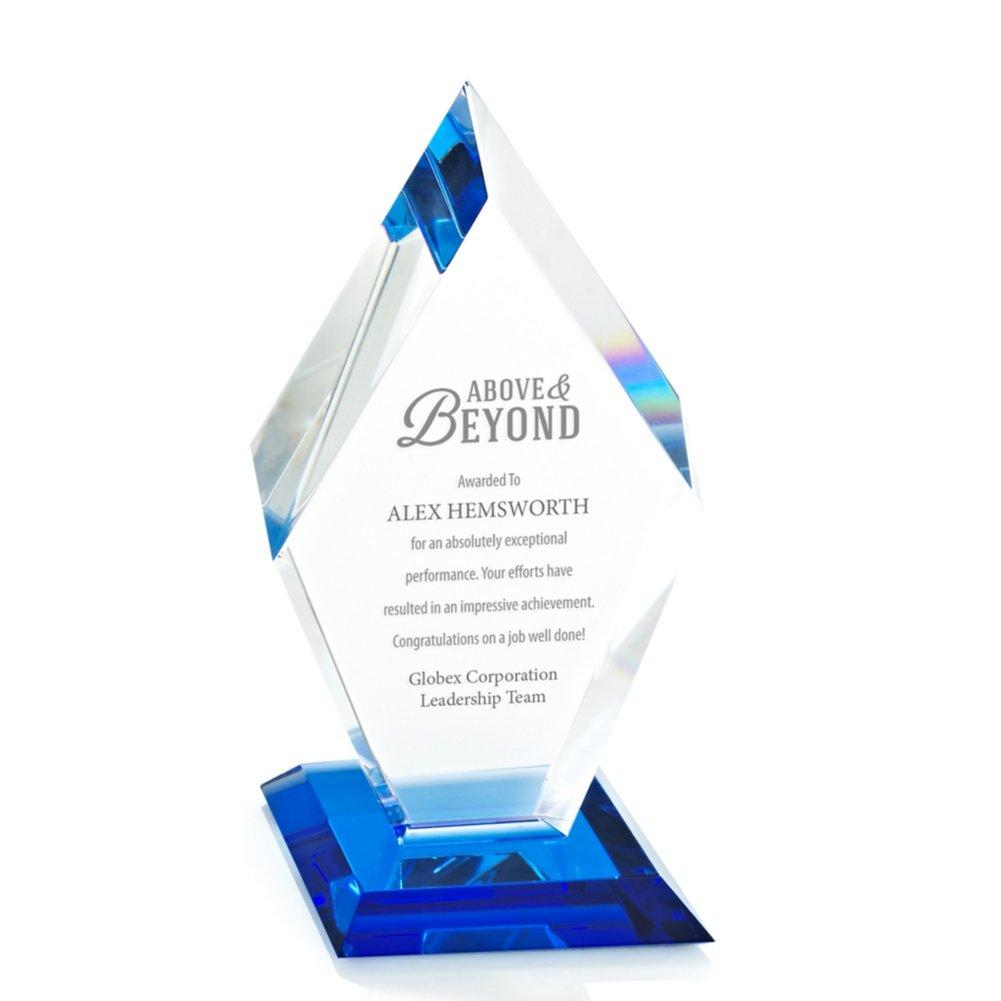 View larger image of Blue Luminary Crystal Award - Diamond