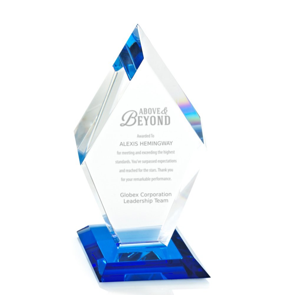 View larger image of Blue Luminary Crystal Award - Diamond