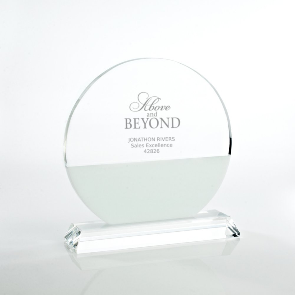 View larger image of Brilliant White Crystal Award - Circle
