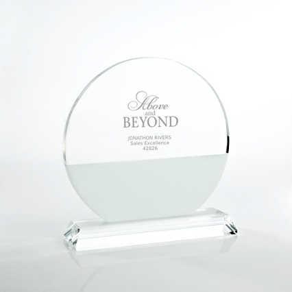 Brilliant White Crystal Award - Circle