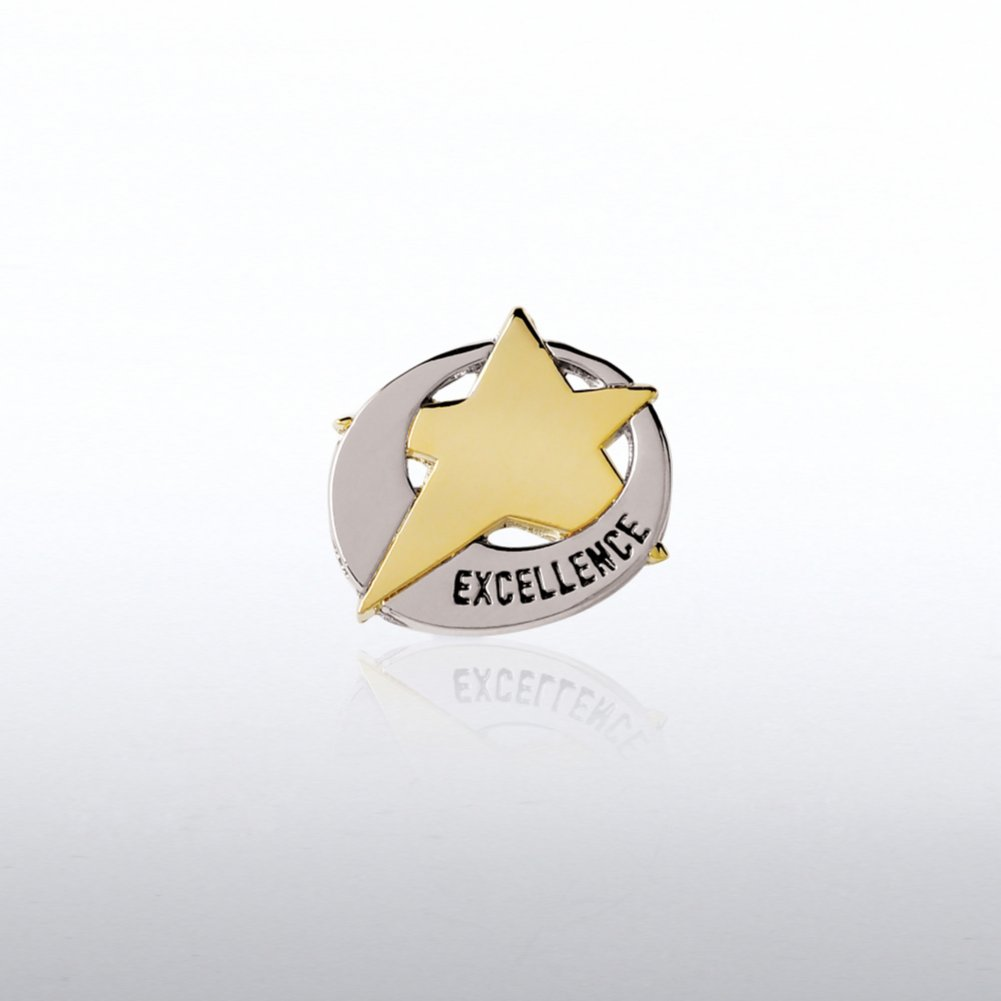 View larger image of Lapel Pin  - Duo Tone Star Swoosh: Excellence