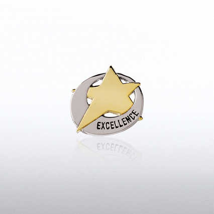 Lapel Pin  - Duo Tone Star Swoosh: Excellence