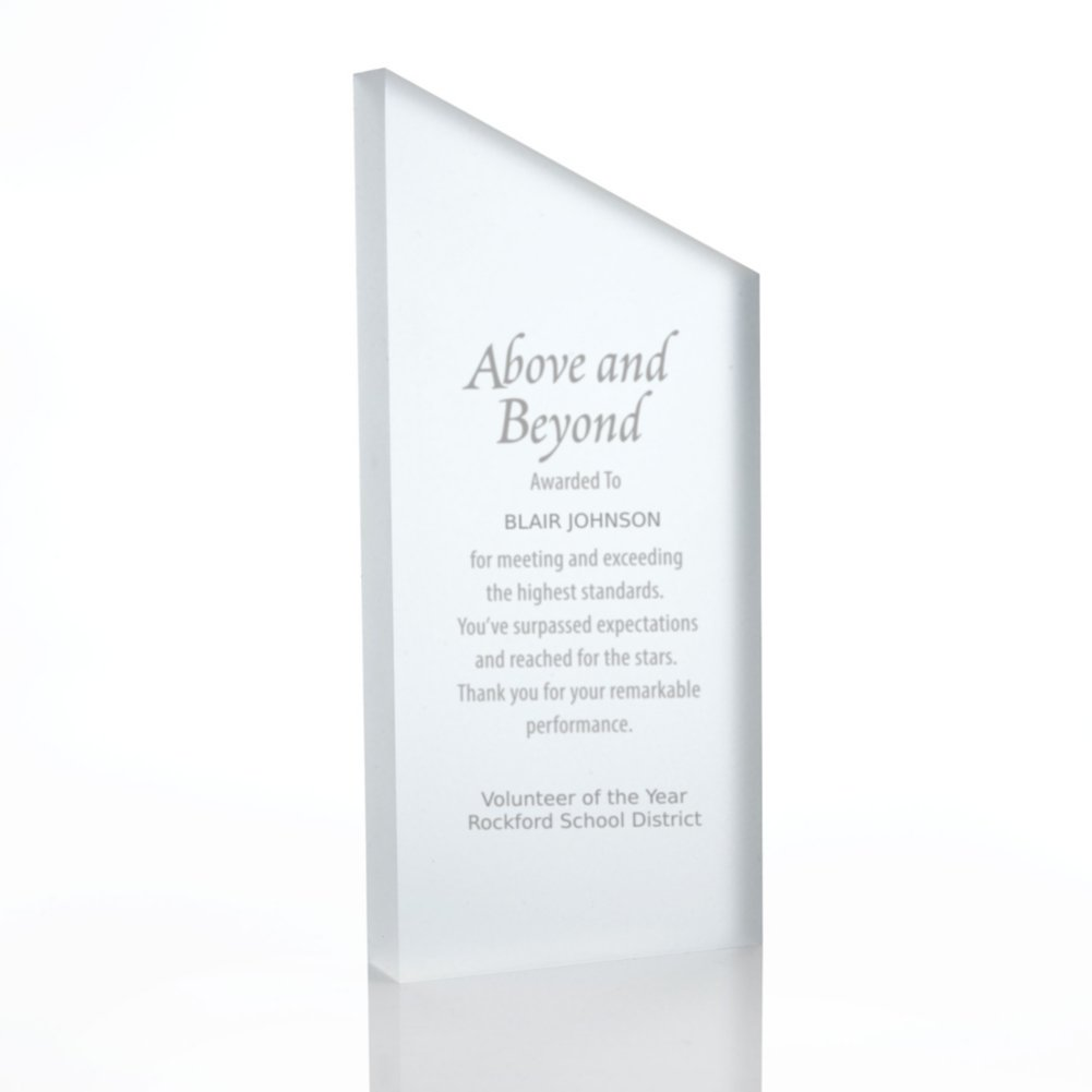 View larger image of Frosted Acrylic Trophy - Slanted Rectangle