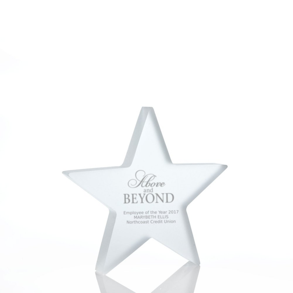 View larger image of Frosted Acrylic Trophy - Star