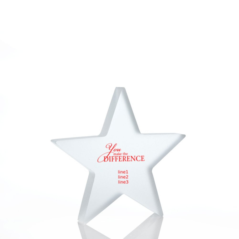 Frosted Acrylic Trophy - Star
