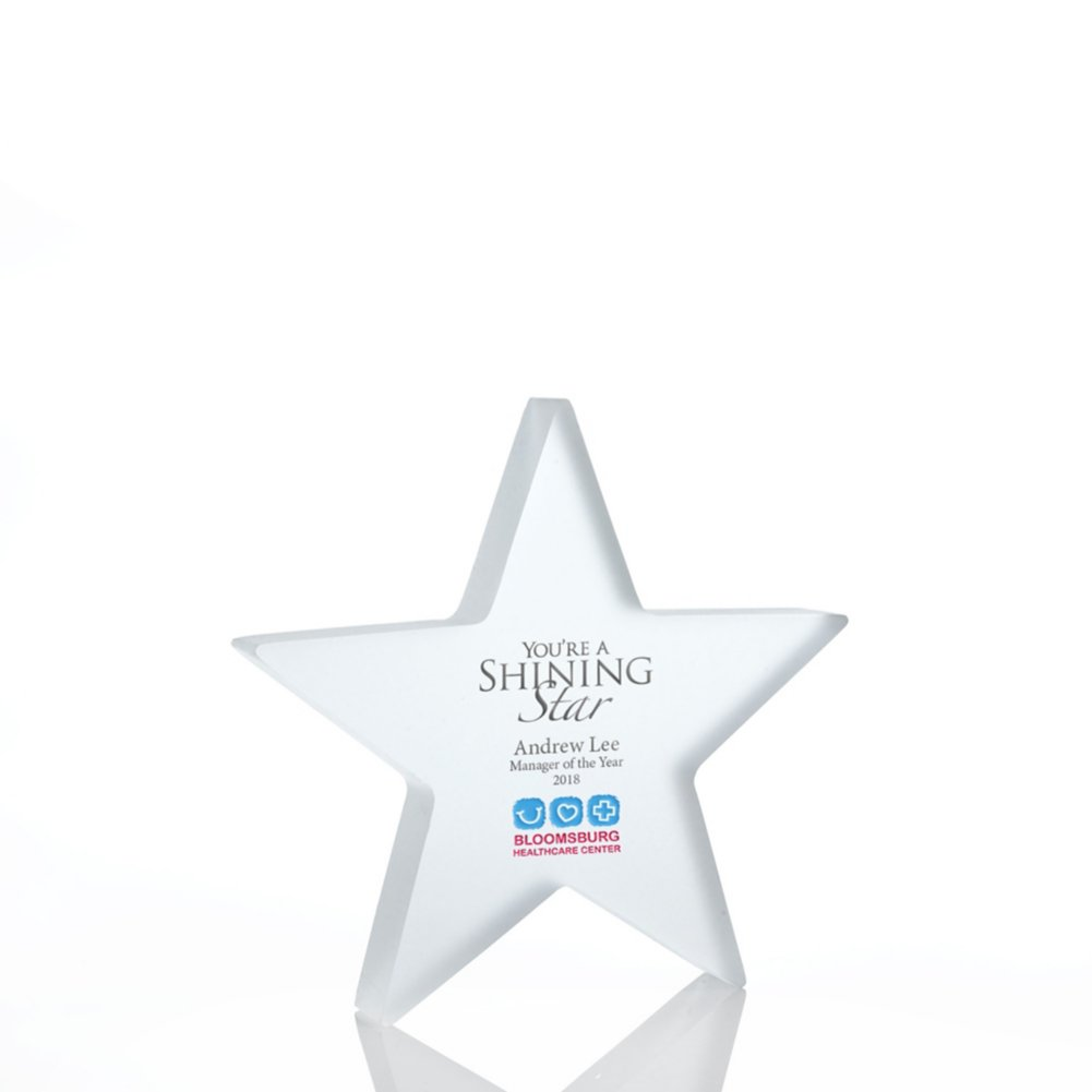 View larger image of Frosted Acrylic Trophy - Star - Full Color
