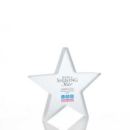 Frosted Acrylic Trophy - Star - Full Color