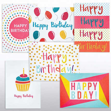 Classic Celebrations -Glitter Card Happy Birthday Assortment