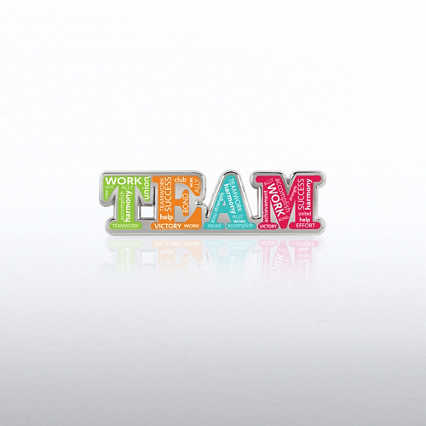 Lapel Pin - Team Words