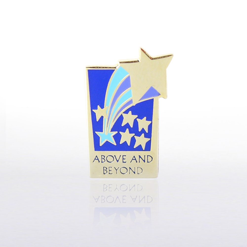 View larger image of Lapel Pin - Above and Beyond Rectangle - Multi Color