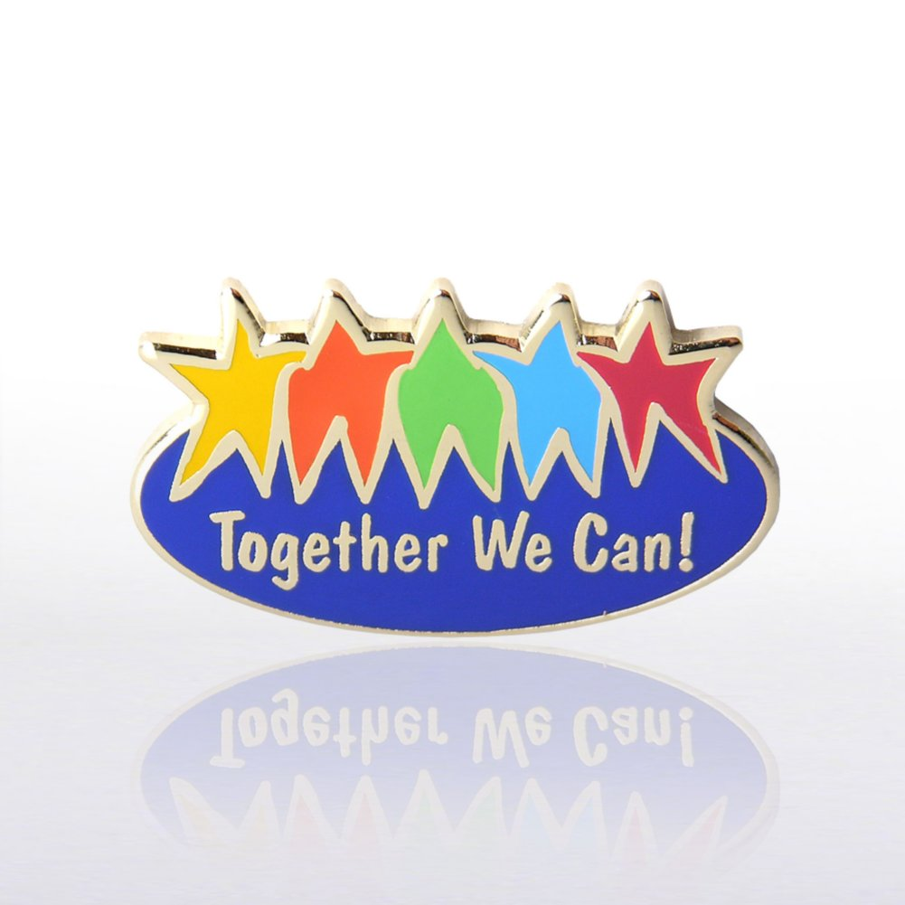 View larger image of Lapel Pin - Together We Can - Multi-Color
