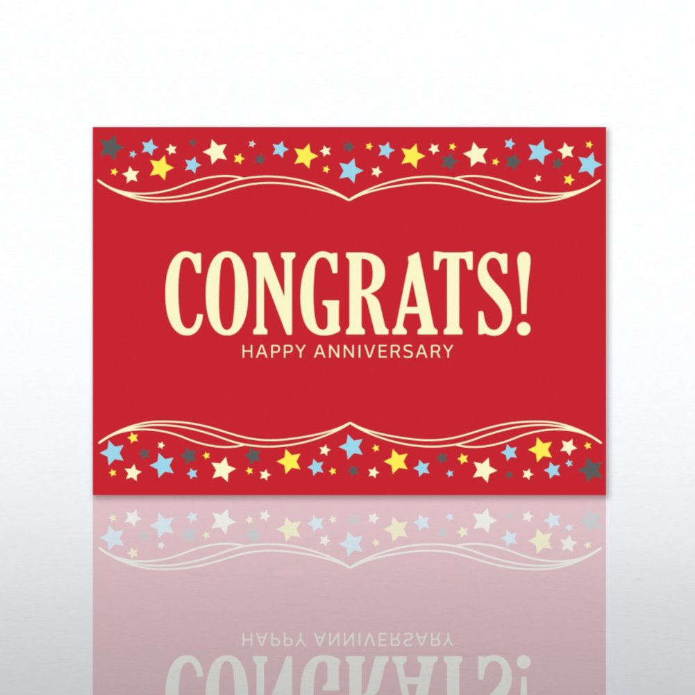 Classic Celebrations - Happy Anniversary - Congrats! - Red
