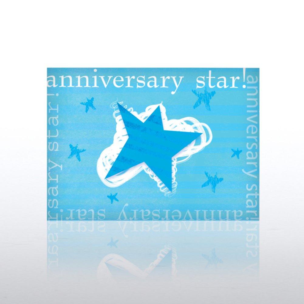Classic Celebrations - Anniversary - Blue Solo Star