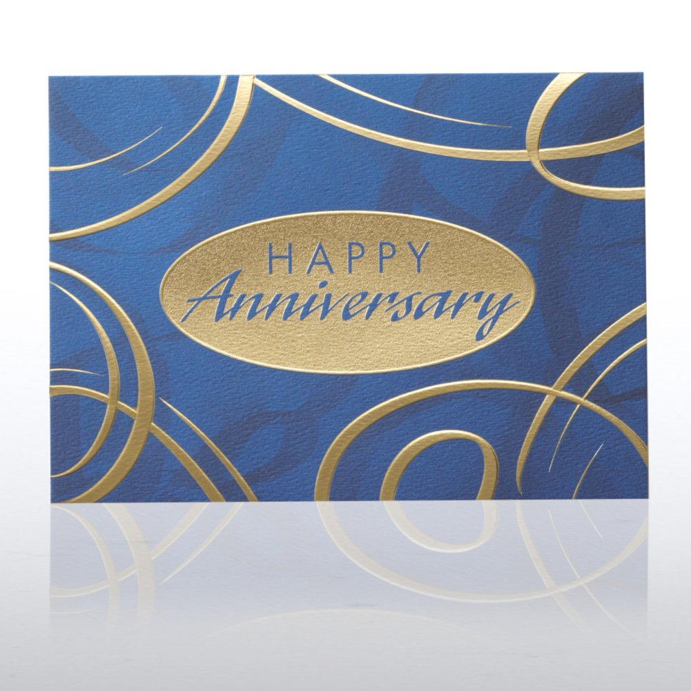 View larger image of Grand Events - Anniversary Blue & Gold Swirls