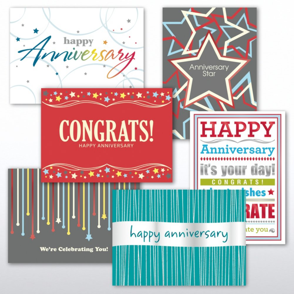 View larger image of Classic Celebrations - Contemporary Happy Anniversary Asst