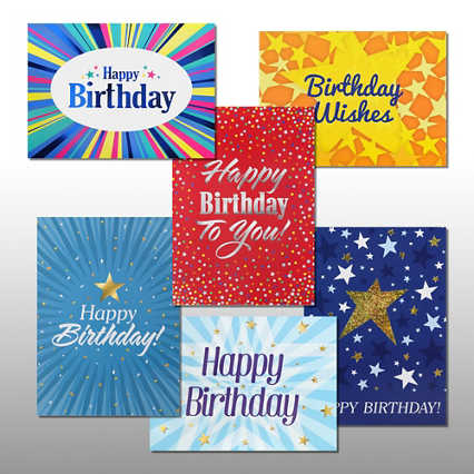 Classic Celebrations - Happy Birthday Stars - Assortment